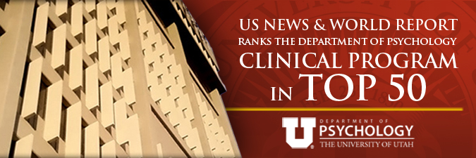 US News and World Report ranks the Department of Psychology Clinical Program in top 50
